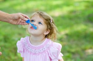 PGD Puerto Vallarta Baby playing bubbles